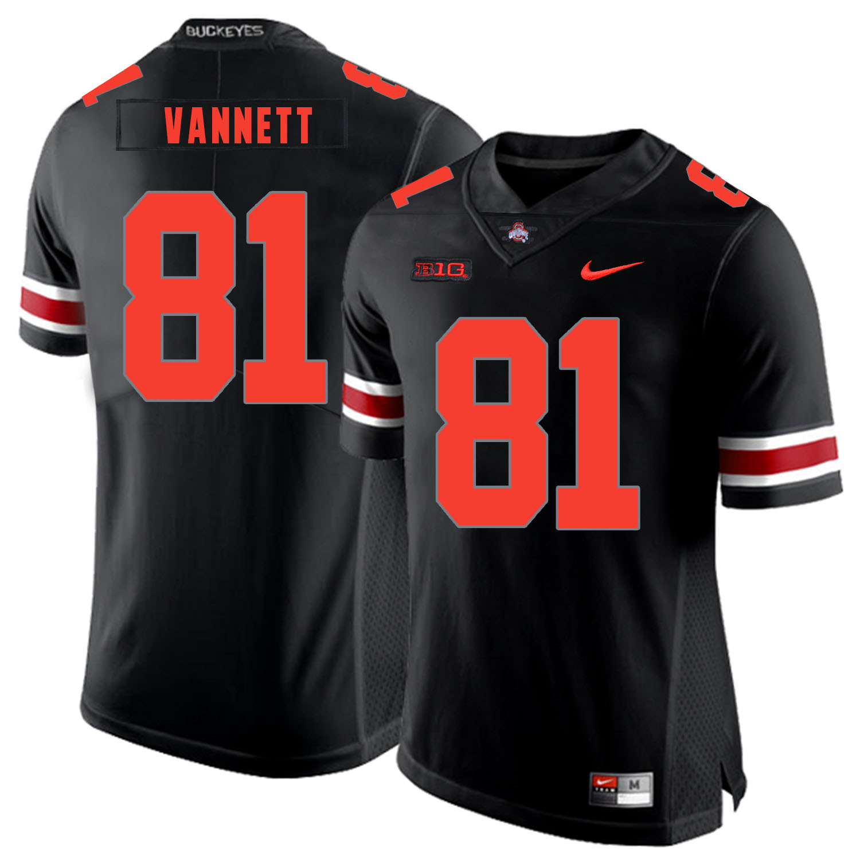 Ohio State Buckeyes 81 Nick Vannett Black Shadow Nike College Football Jersey