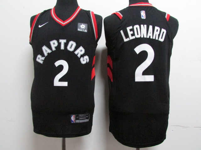 Raptors 2 Kawhi Leonard Black Nike Authentic Jersey