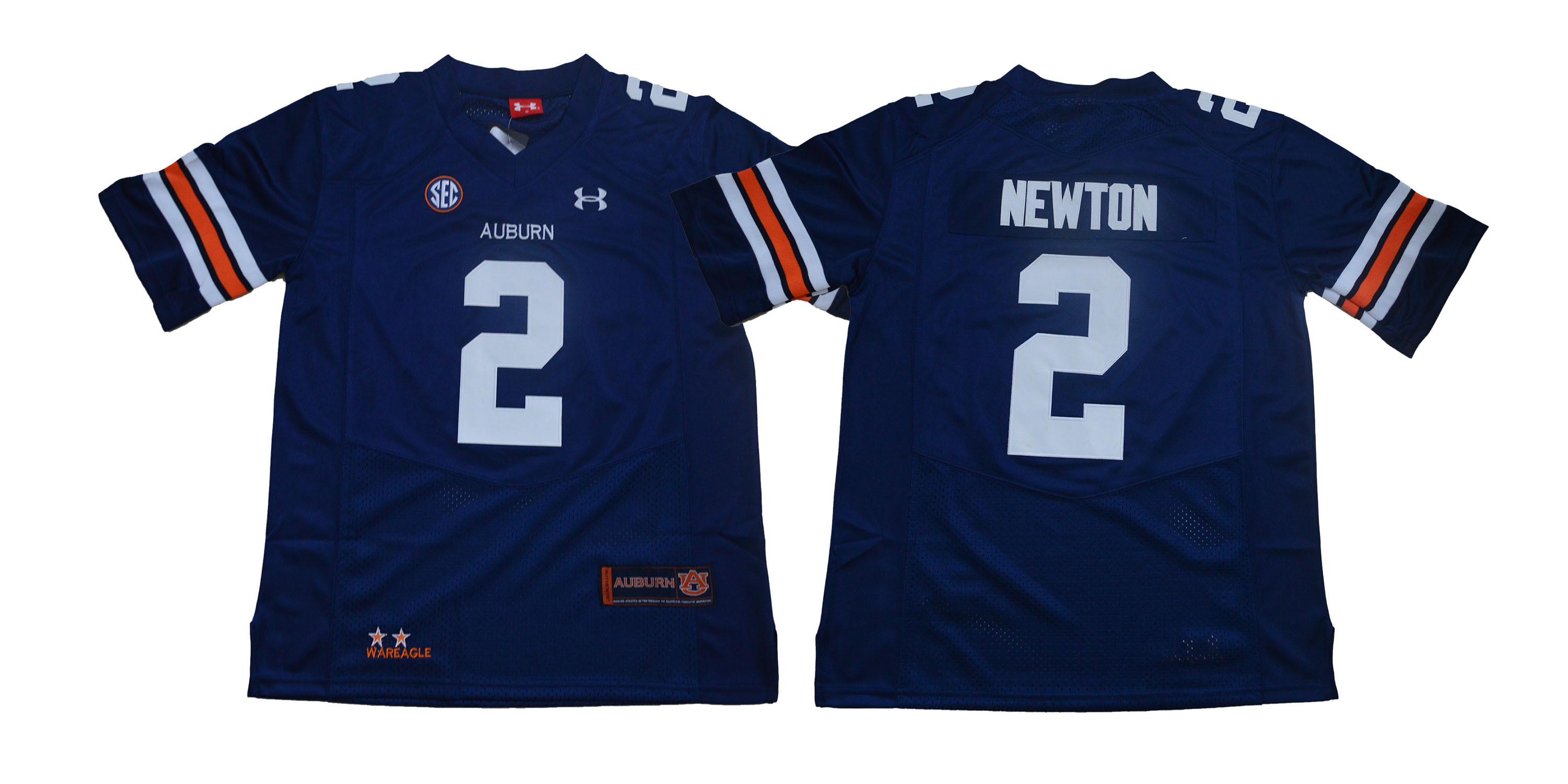Auburn Tigers 2 Cam Newton Navy College Football Jersey