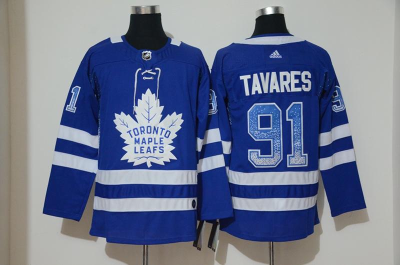 Maple Leafs 91 John Tavares Blue Drift Fashion Adidas Jersey