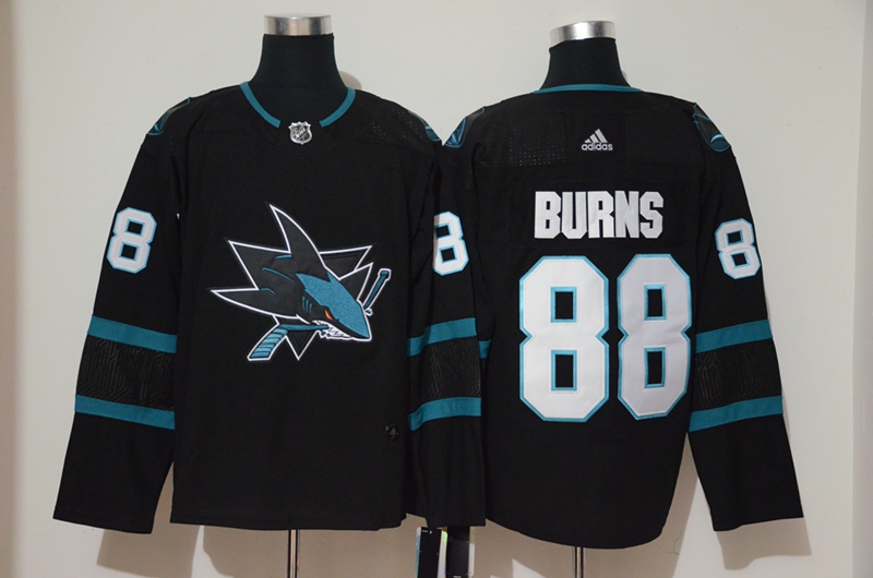 Sharks 88 Brent Burns Black Adidas Jersey