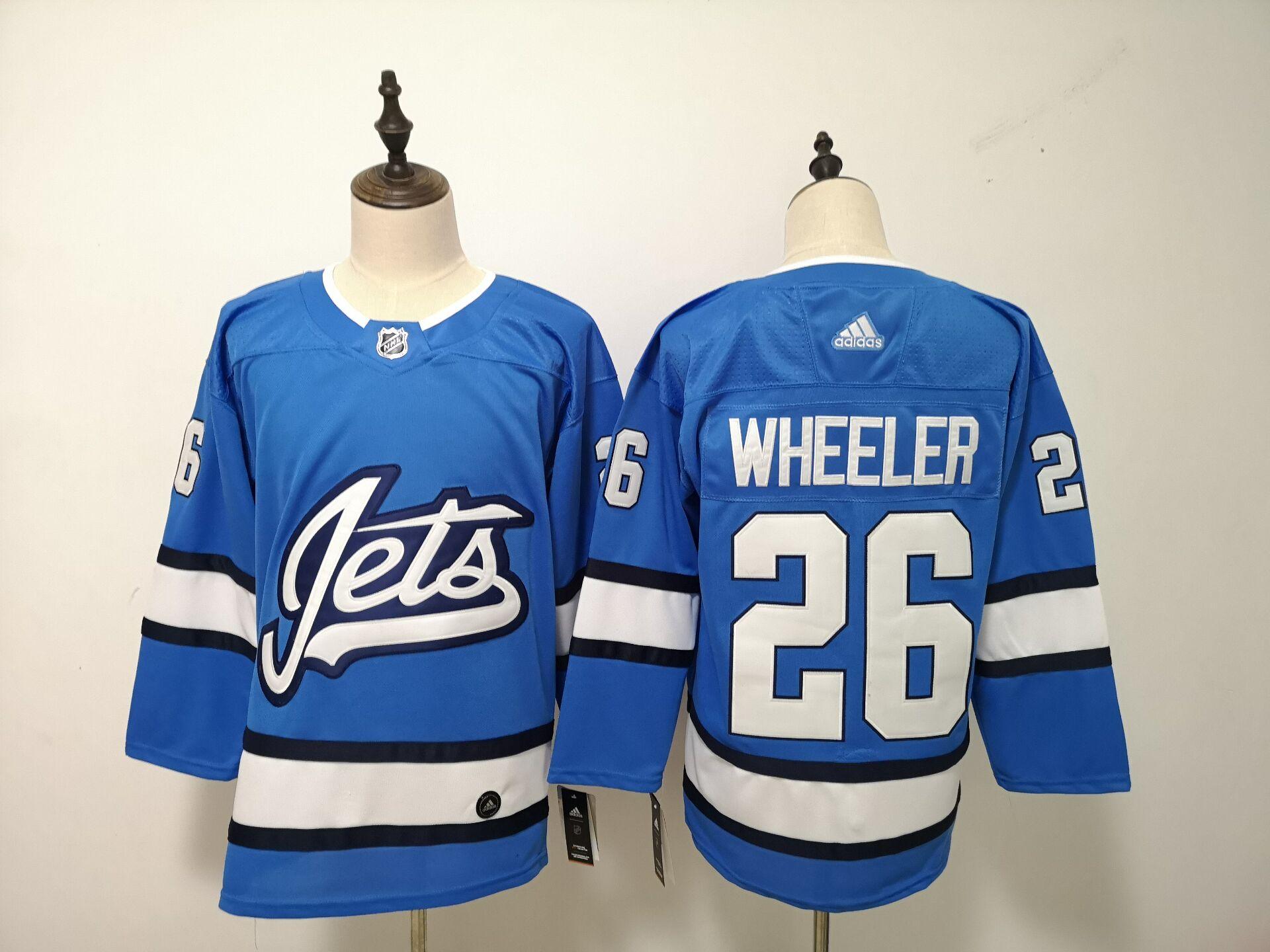 Winnipeg Jets 26 Blake Wheeler Blue Alternate Adidas Jersey