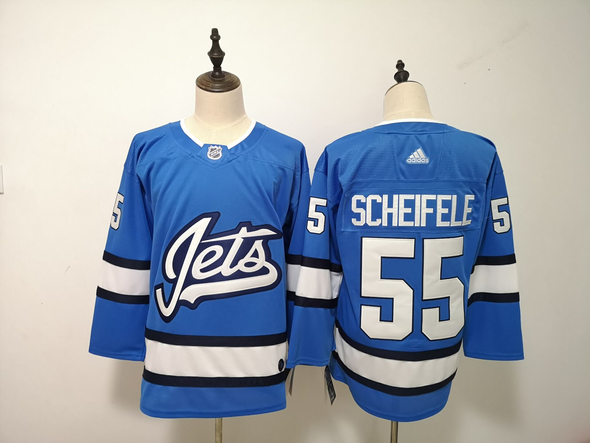 Winnipeg Jets 55 Mark Scheifele Blue Alternate Adidas Jersey