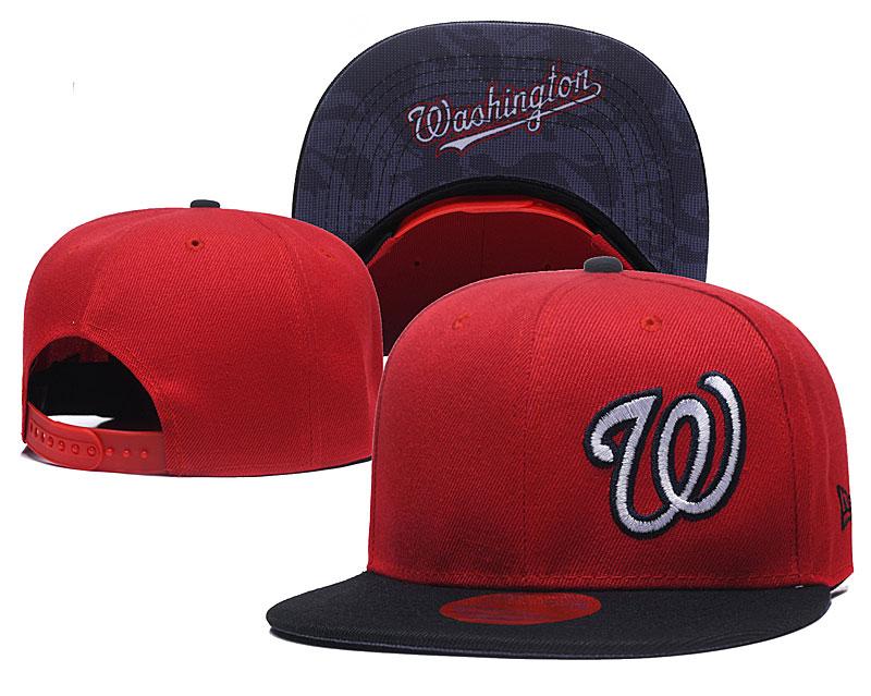 Nationals Fresh Logo Red Adjustable Hat LH