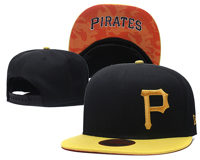 Pirates Fresh Logo Black Adjustable Hat LH