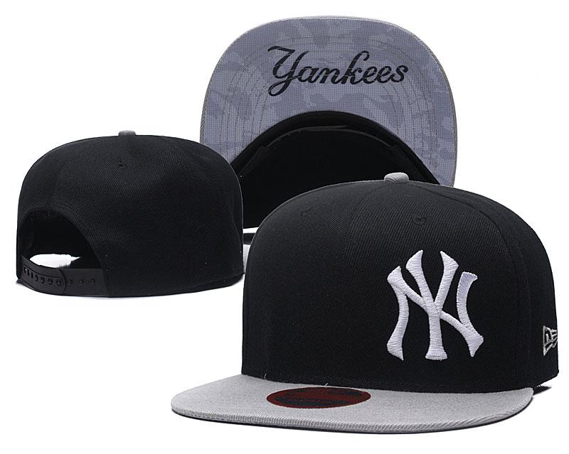 Yankees Fresh Logo Black Adjustable Hat LH