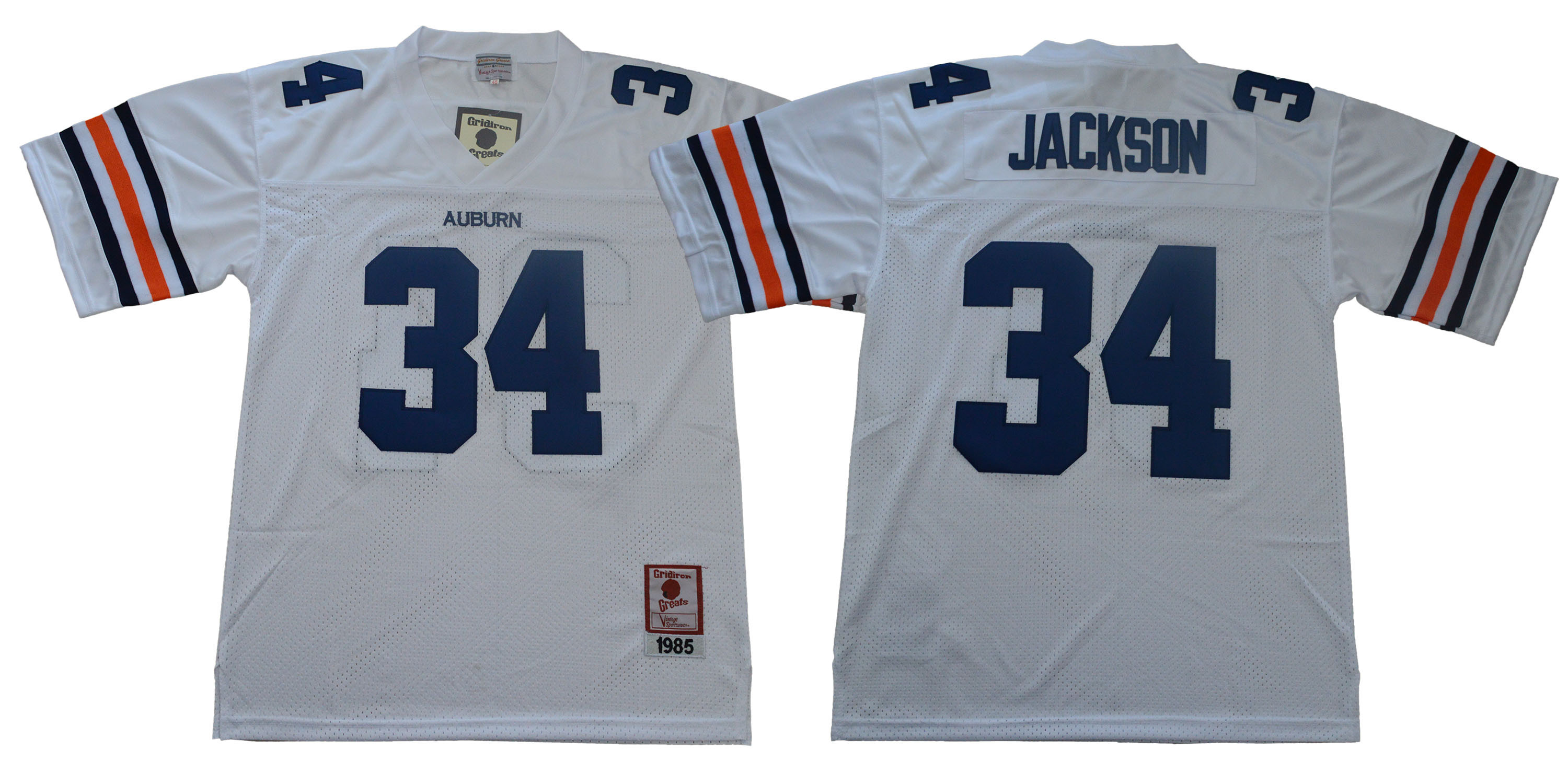 Auburn Tigers 34 Bo Jackson White 1985 College Football Jersey