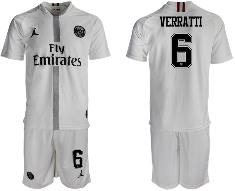 2018-19 Paris Saint-Germain 6 VERRATTI Away Jordan Goalkeeper Soccer Jersey