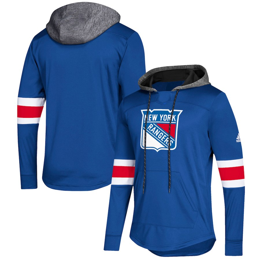 New York Rangers Blue Women's Customized All Stitched Hooded Sweatshirt