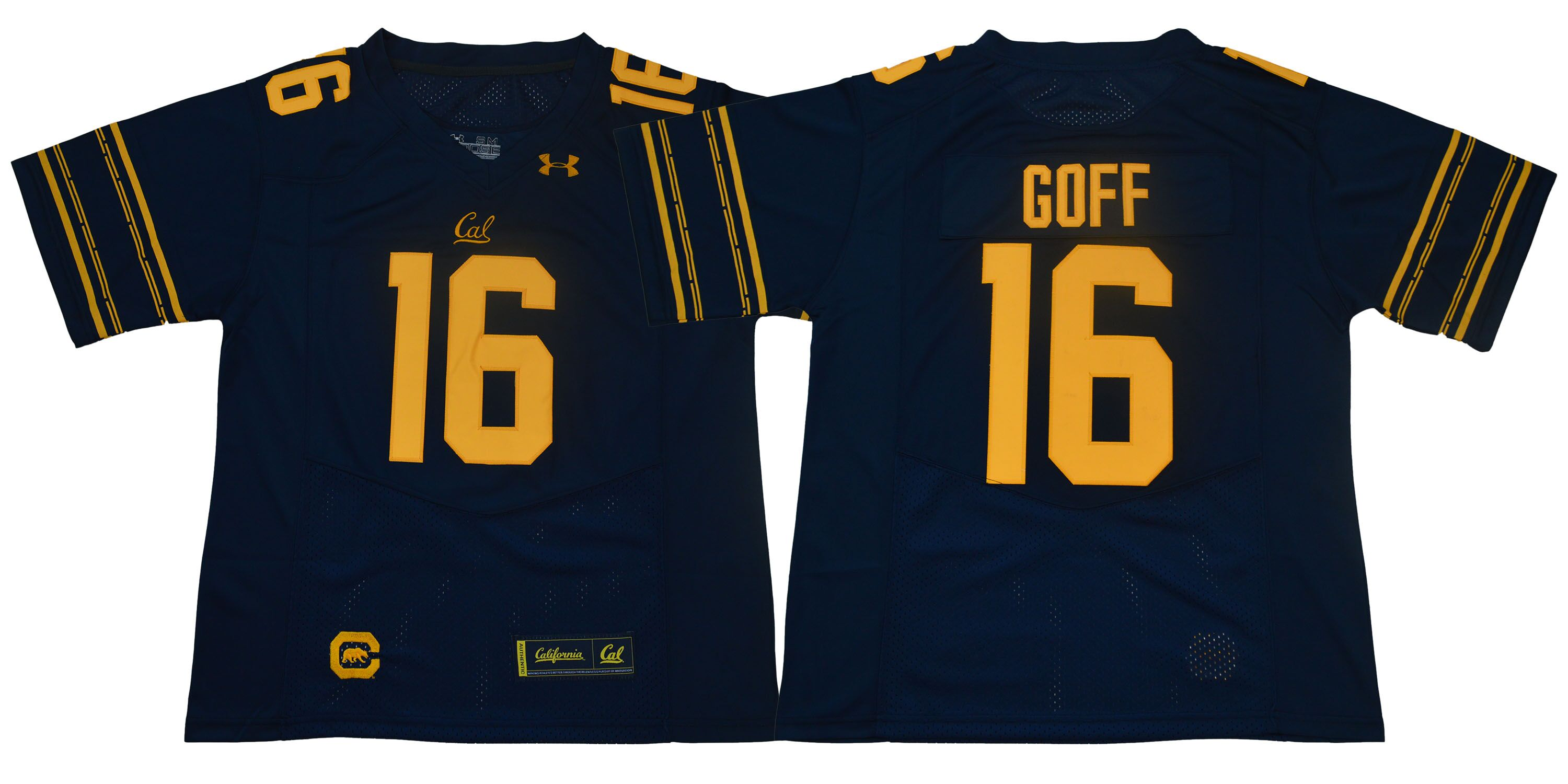 California Golden Bears 16 Jared Goff Navy College Football Jersey