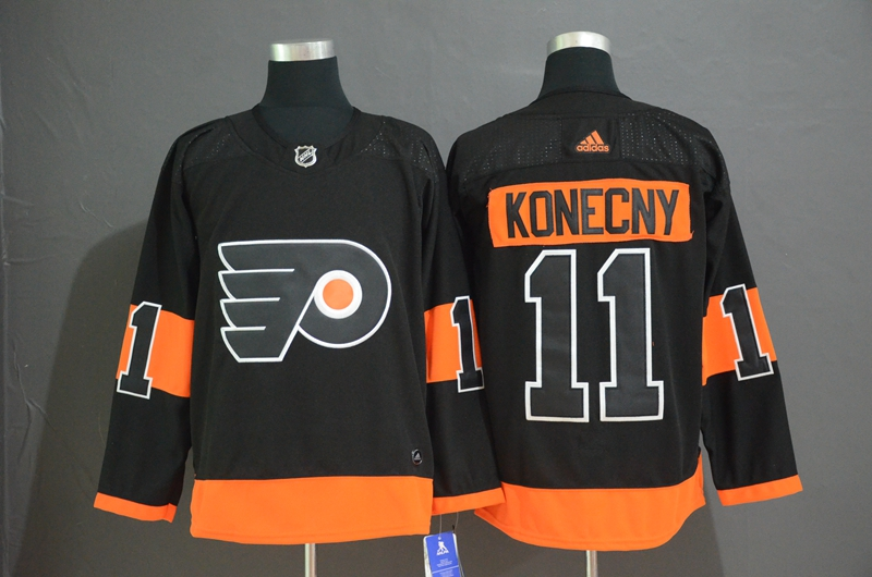 Flyers 11 Travis Konecny Black Alternate Adidas Jersey