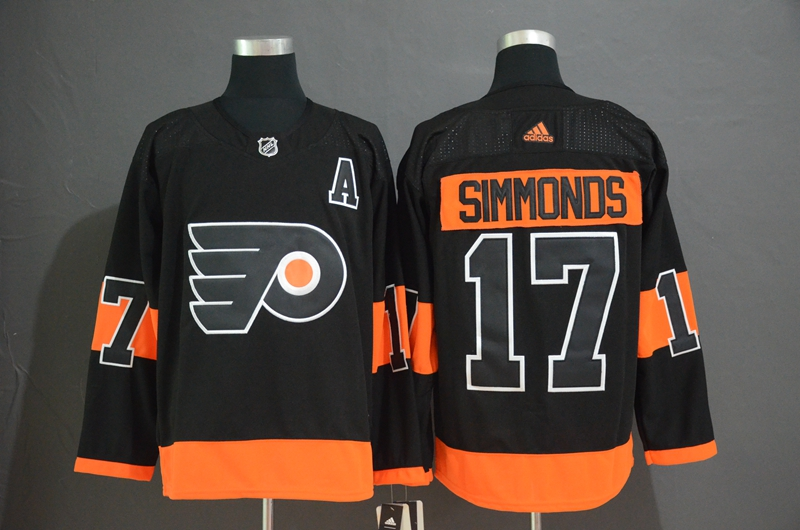 Flyers 17 Wayne Simmonds Black Alternate Adidas Jersey