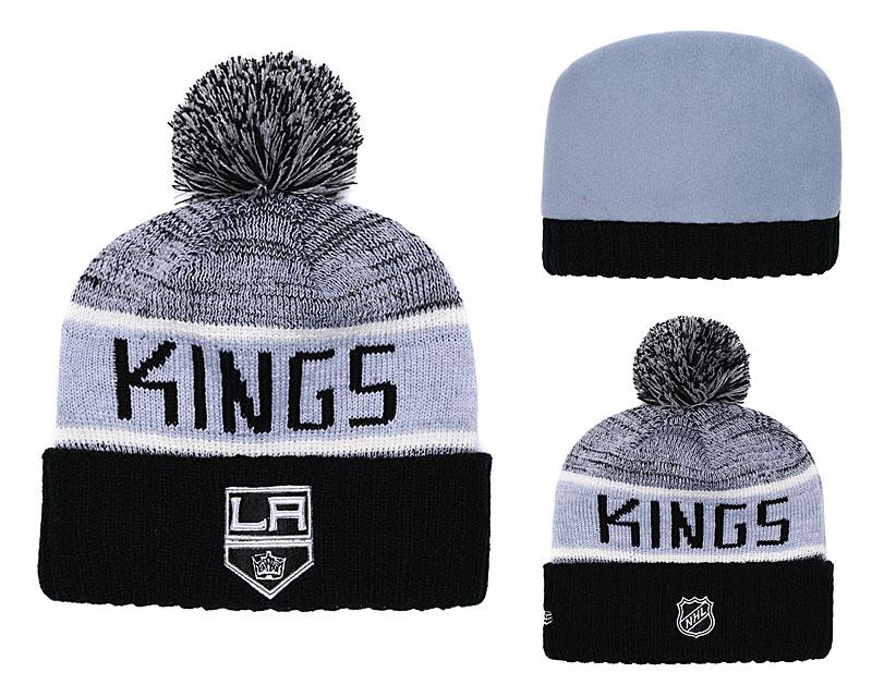 LA Kings Fresh Logo Black Cuffed Knit Hat With Pom YD