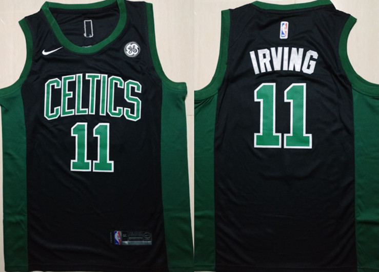 Celtics 11 Kyrie Irving Black Nike Swingman Jersey