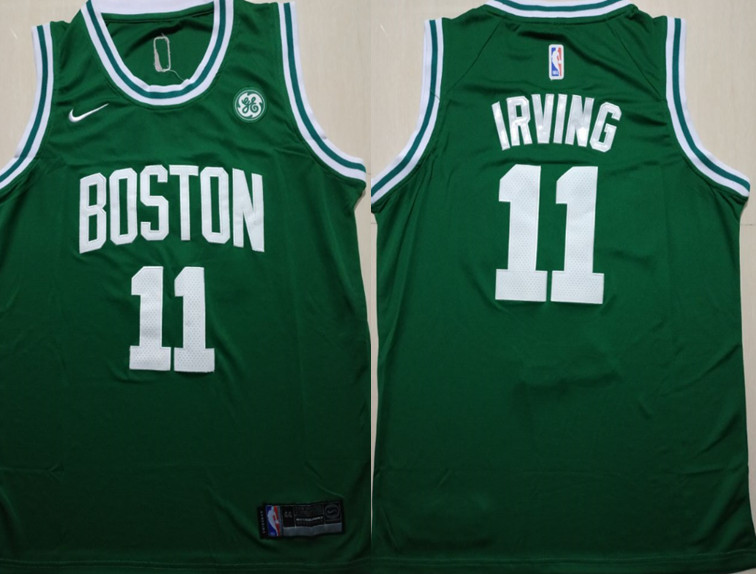 Celtics 11 Kyrie Irving Green Nike Swingman Jersey