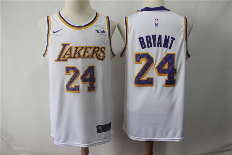 Lakers 24 Kobe Bryant White 2018-19 Nike Swingman Jersey