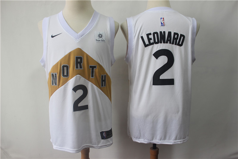 Raptors 2 Kawhi Leonard White 2018-19 City Edition Nike Swingman Jersey