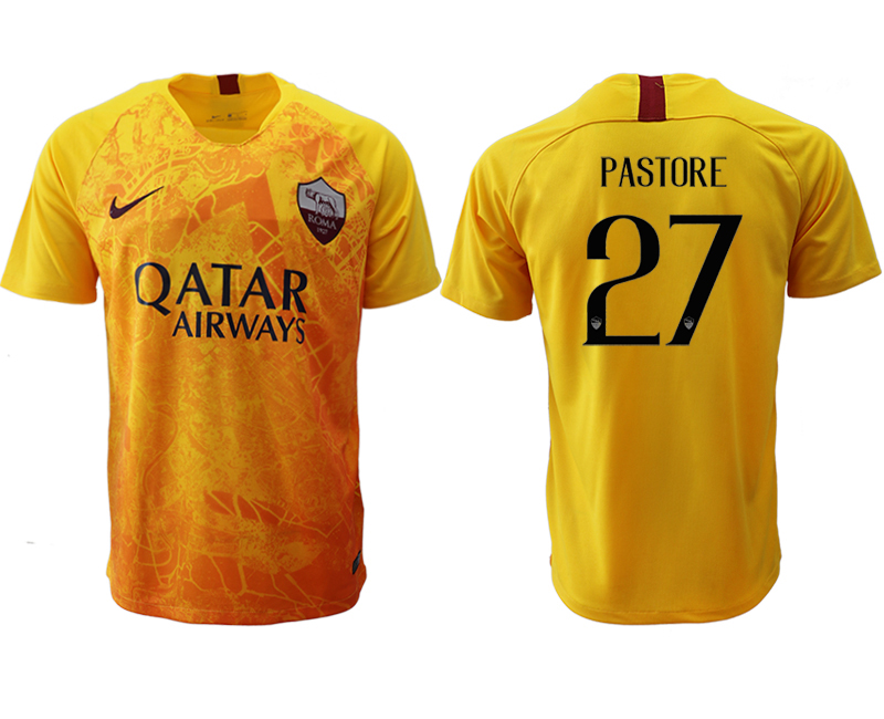 2018-19 Roma 27 PASTORE Third Away Thailand Soccer Jersey