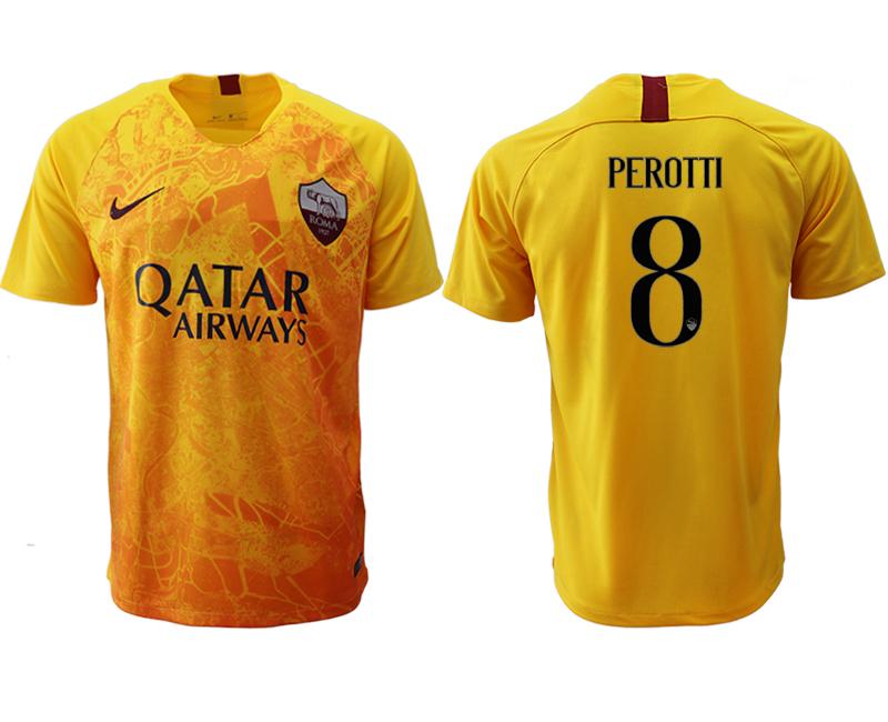 2018-19 Roma 8 PEROTTI Third Away Thailand Soccer Jersey