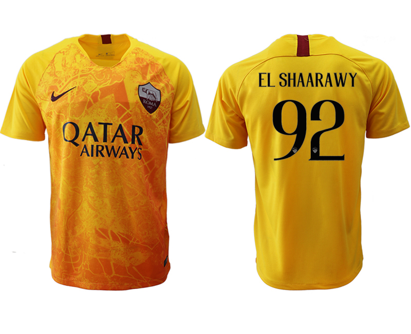 2018-19 Roma 92 EL SHAARAWY Third Away Thailand Soccer Jersey