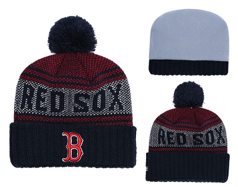 Red Sox Team Logo Navy Knit Hat YD