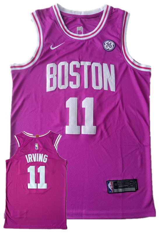 Celtics 11 Kyrie Irving Purple Nike Authentic Jersey