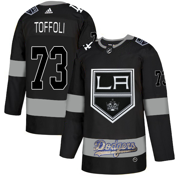 LA Kings With Dodgers 73 Tyler Toffoli Black Adidas Jersey