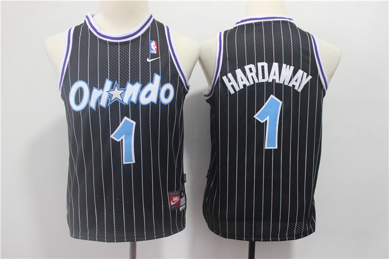 Magic 1 Penny Hardaway Black Youth Nike Throwback Jersey