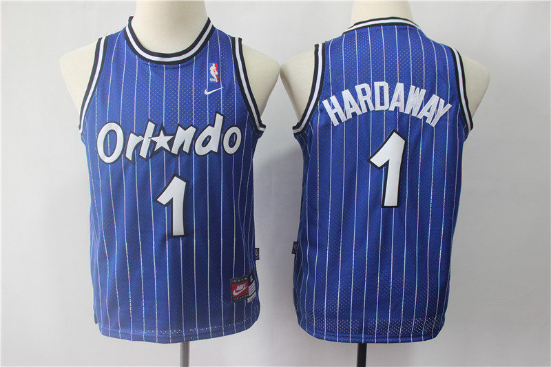Magic 1 Penny Hardaway Blue Youth Nike Throwback Jersey