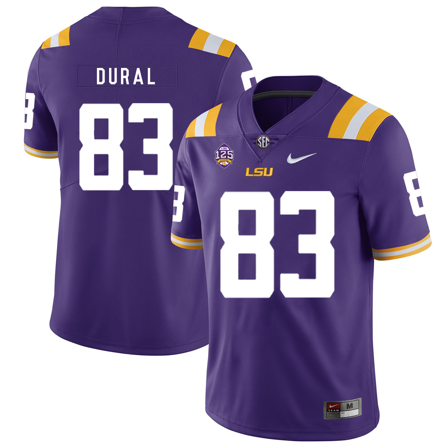 LSU Tigers 83 Travin Dural Purple Nike College Football Jersey