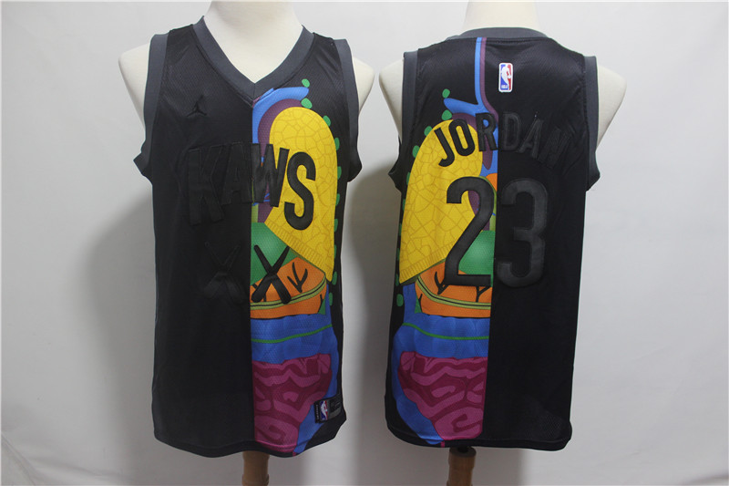 KAWS x Jordan 23 Michael Jordan Black NBA Jersey