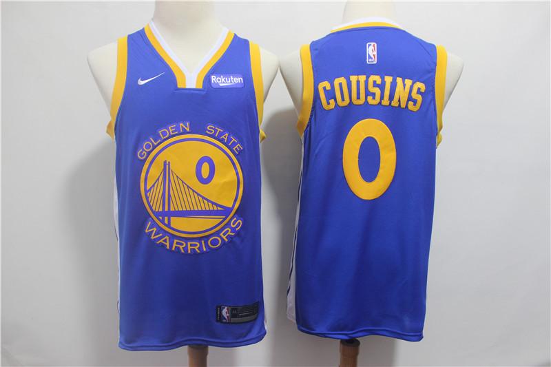 Warriors 0 DeMarcus Cousins Royal Nike Swingman Jersey