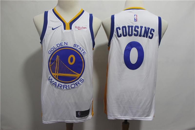 Warriors 0 DeMarcus Cousins White Nike Swingman Jersey