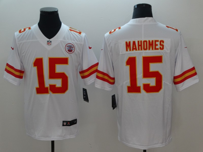 Nike Chiefs 15 Patrick Mahomes White Youth Vapor Untouchable Limited Jersey