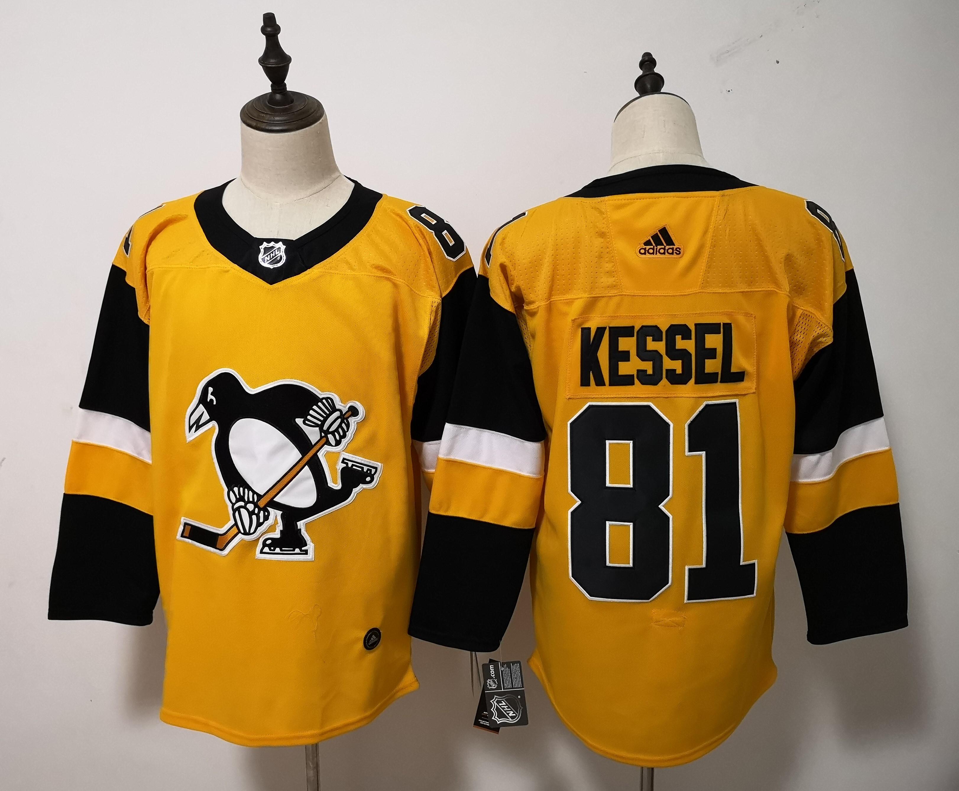 Penguins 81 Evgeni Kessel Gold Gold Alternate Adidas Jersey