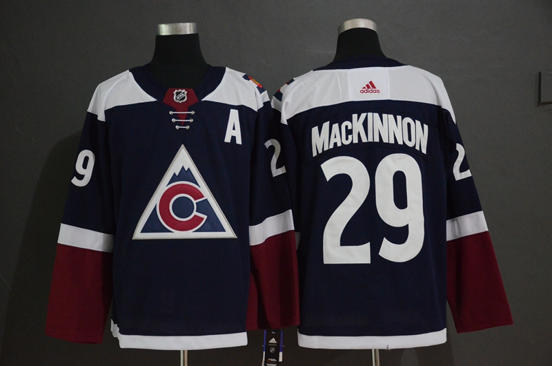Avalanche 29 Nathan MacKinnon Navy Alternate Adidas Jersey