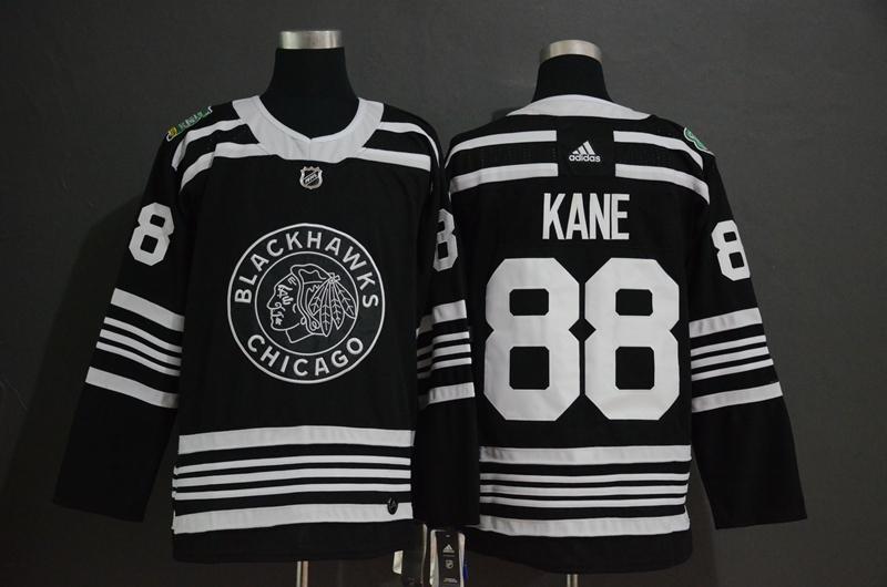 Blackhawks 88 Patrick Kane Black 2019 Winter Classic Adidas Jersey 43b7951cb