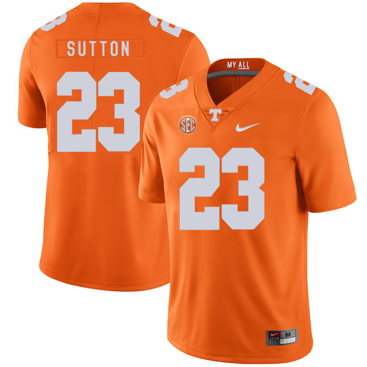 Tennessee Volunteers 23 Cameron Sutton Orange Nike College Football Jersey