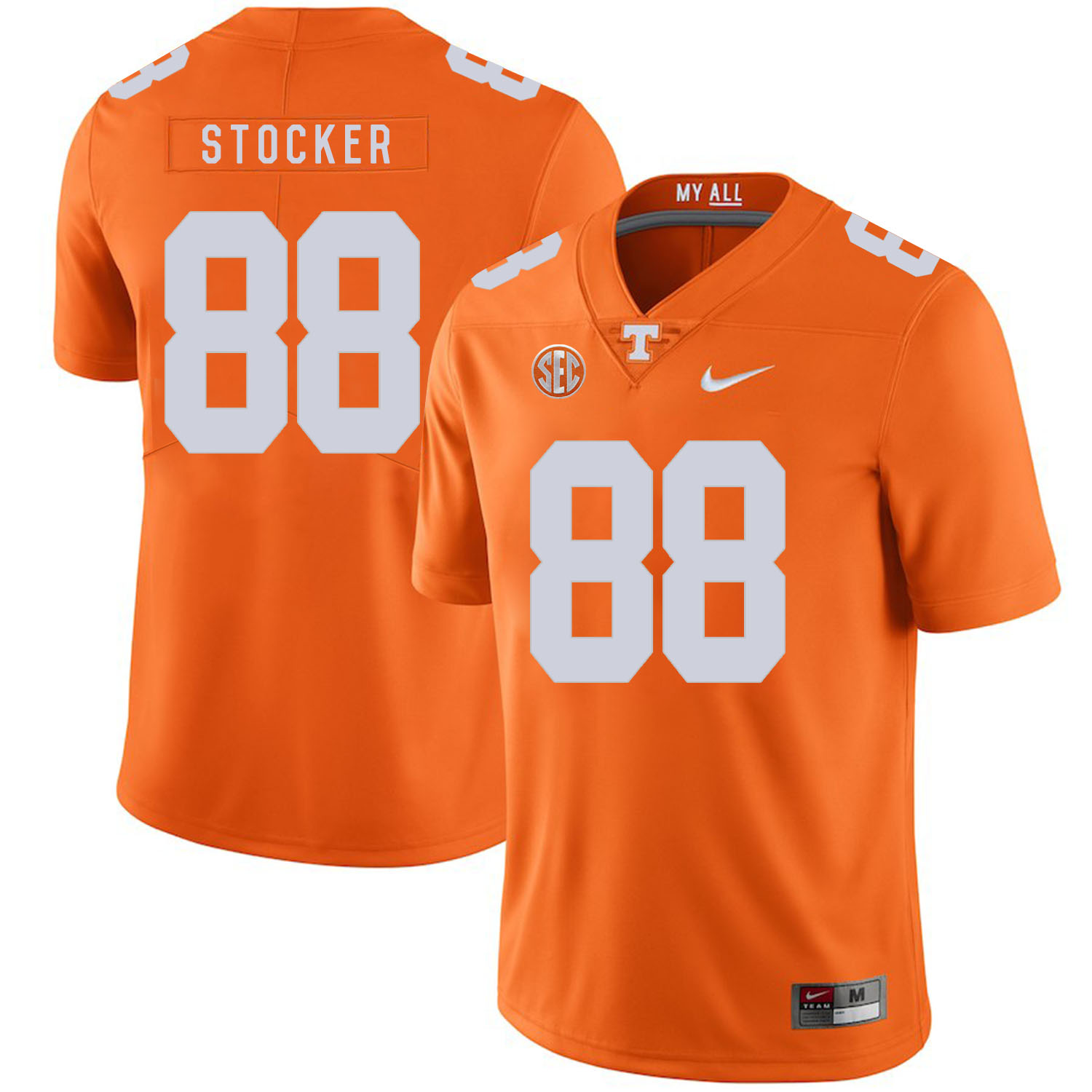 Tennessee Volunteers 88 Luke Stocker Orange Nike College Football Jersey