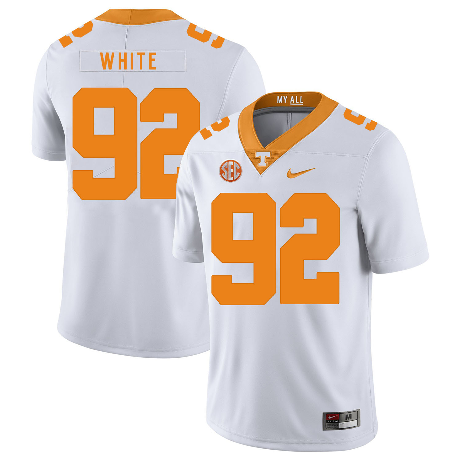 Tennessee Volunteers 92 Reggie White White Nike College Football Jersey