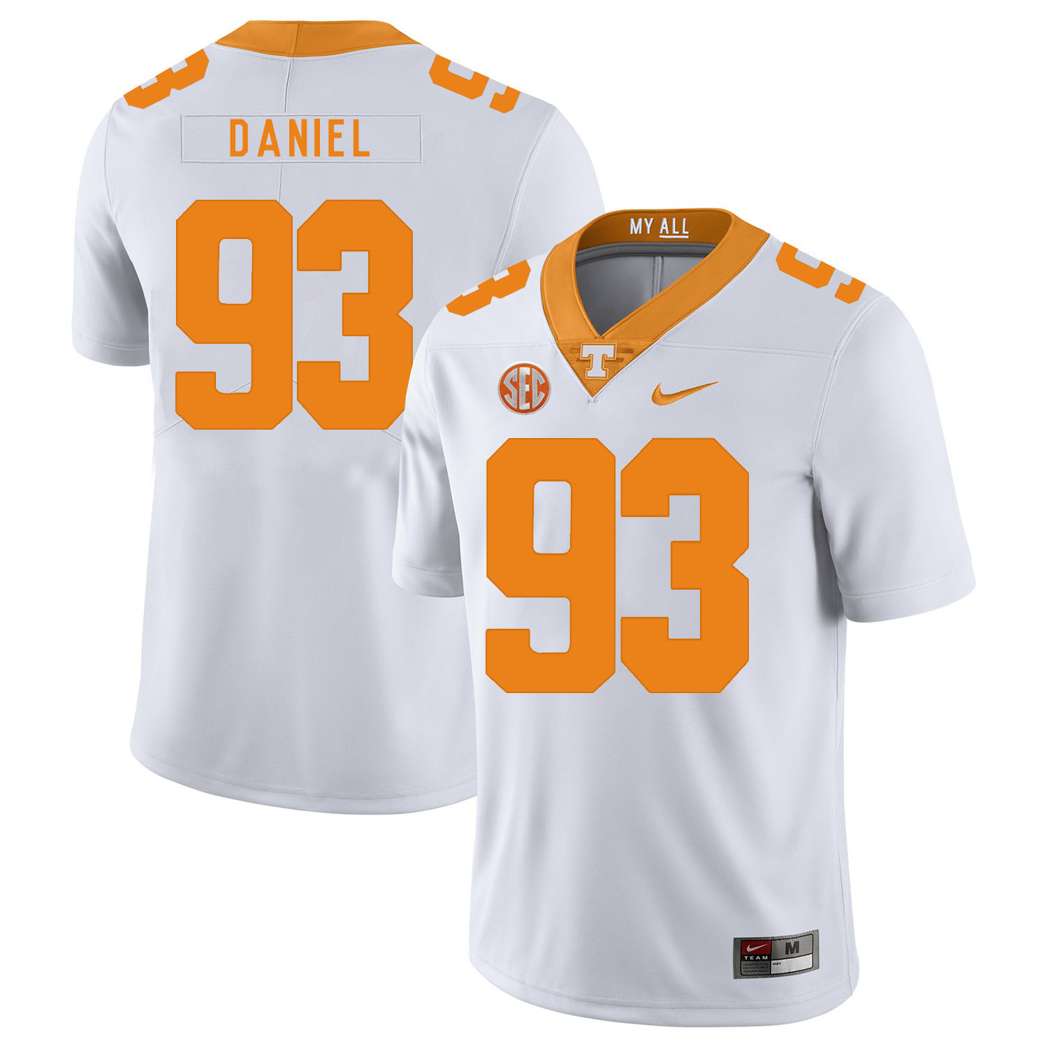 Tennessee Volunteers 93 Trevor Daniel White Nike College Football Jersey