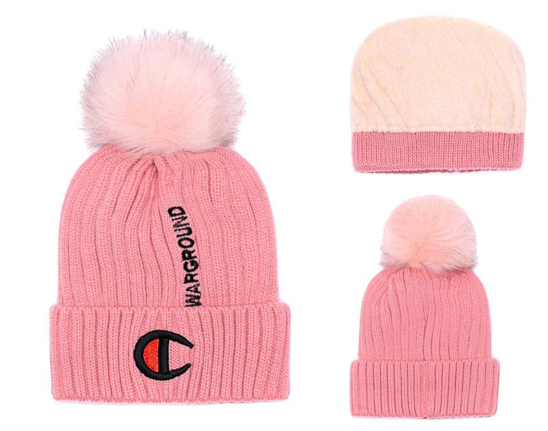 Champion Warground Logo Pink Fashion Sport Knit Hat SG