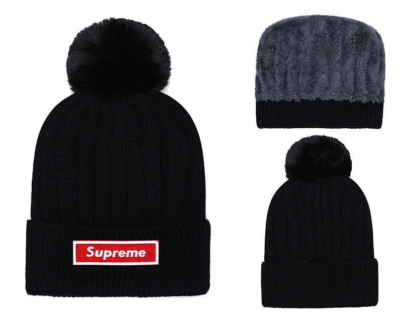 Supreme Fresh Logo Black Fashion Sport Knit Hat SG