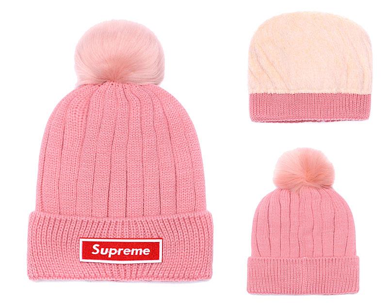 Supreme Fresh Logo Pink Fashion Sport Knit Hat SG