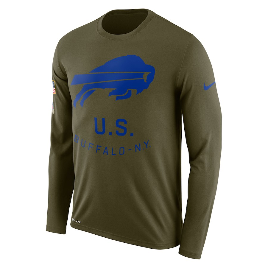 Buffalo Bills Nike Salute to Service Sideline Legend Performance Long Sleeve T-Shirt Olive
