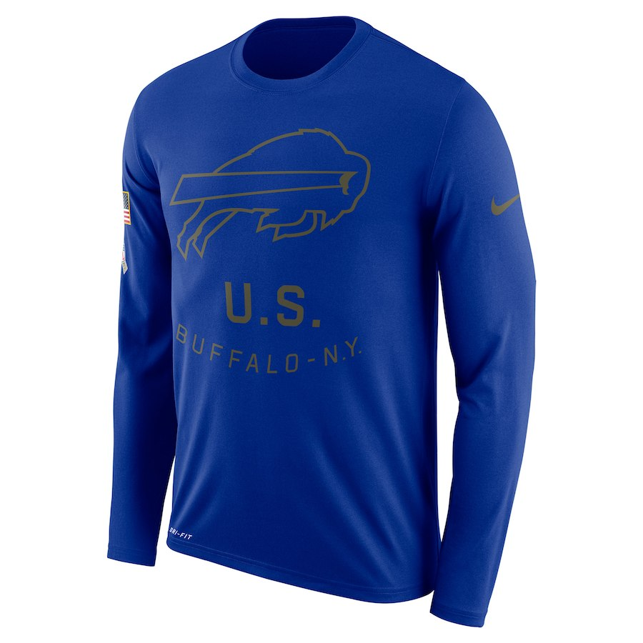 Buffalo Bills Nike Salute to Service Sideline Legend Performance Long Sleeve T-Shirt Royal