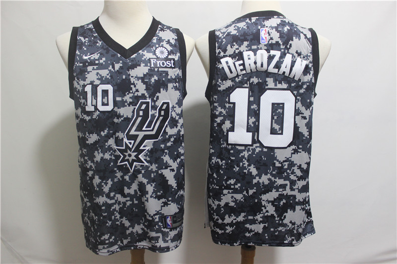 Spurs 10 DeMar DeRozan Camo 2018-19 City Edition Nike Swingman Jersey