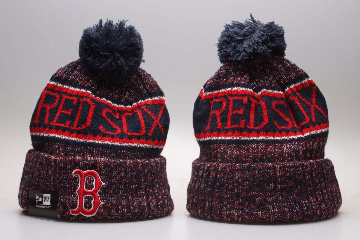 Red Sox Team Logo Red Knit Hat YP