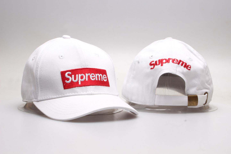 Supreme Fresh Big Logo White Snapback Adjustable Hat YP