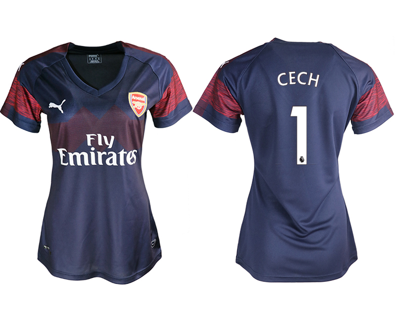 2018-19 Arsenal 1 CECH Away Women Soccer Jersey